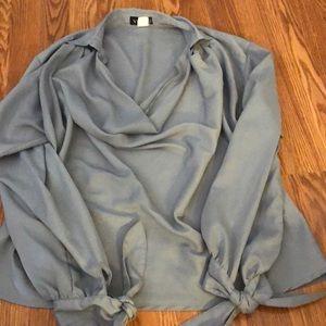 Venus cowl neck tie sleeve blouse